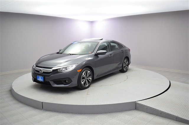 Certified Pre Owned 2017 Honda Civic Ex L 4d Sedan In Woodside